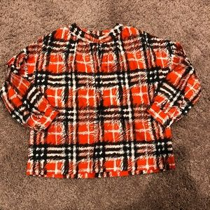 Burberry Baby Girls Red Check Mini Lola Blouse